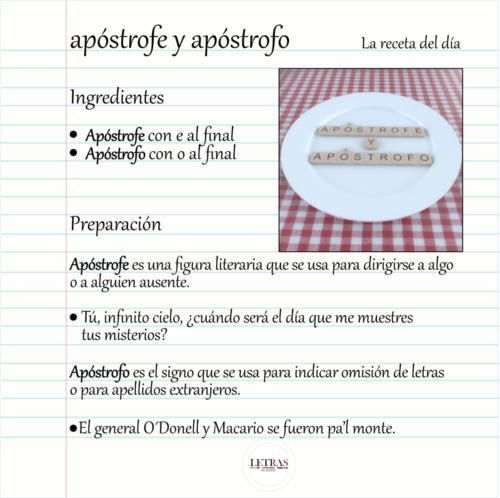 Diferencias entre apóstrofo y apóstrofe