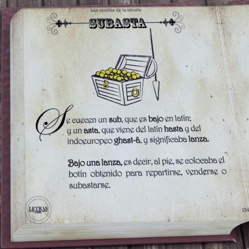 Etimología subasta